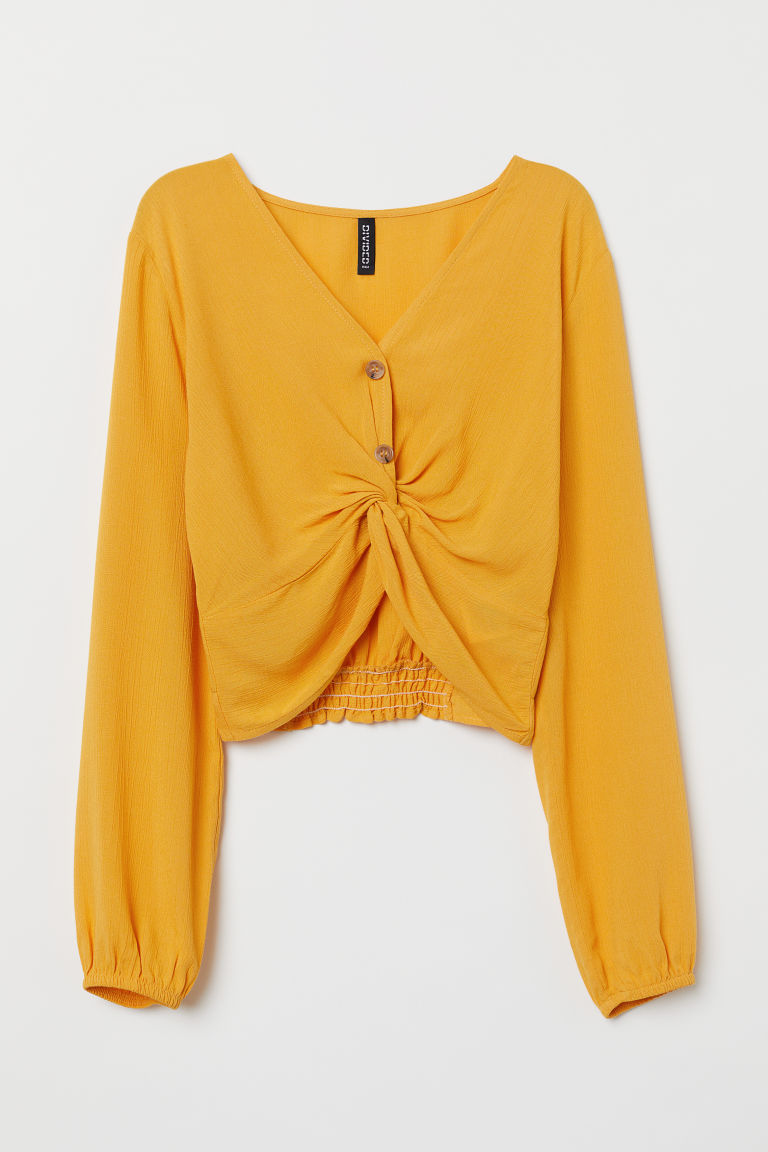 Short blouse - Yellow - Ladies | H&M