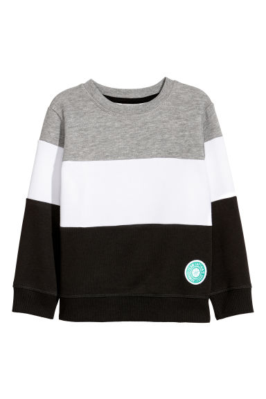 Sweatshirt - Black/Block-coloured - Kids | H&M CN
