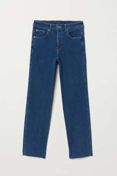 Straight High Ankle Jeans - Denim blue -  | H&M