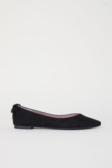 Pointed ballet pumps - Black -  | H&M