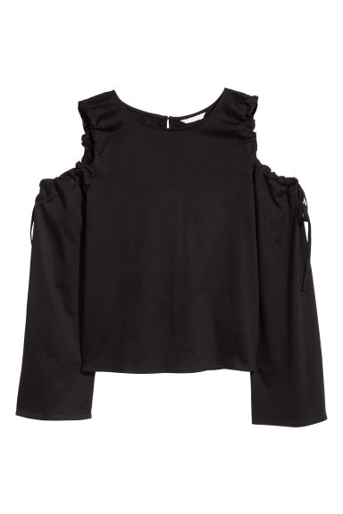 Cold shoulder top - Black - Ladies | H&M