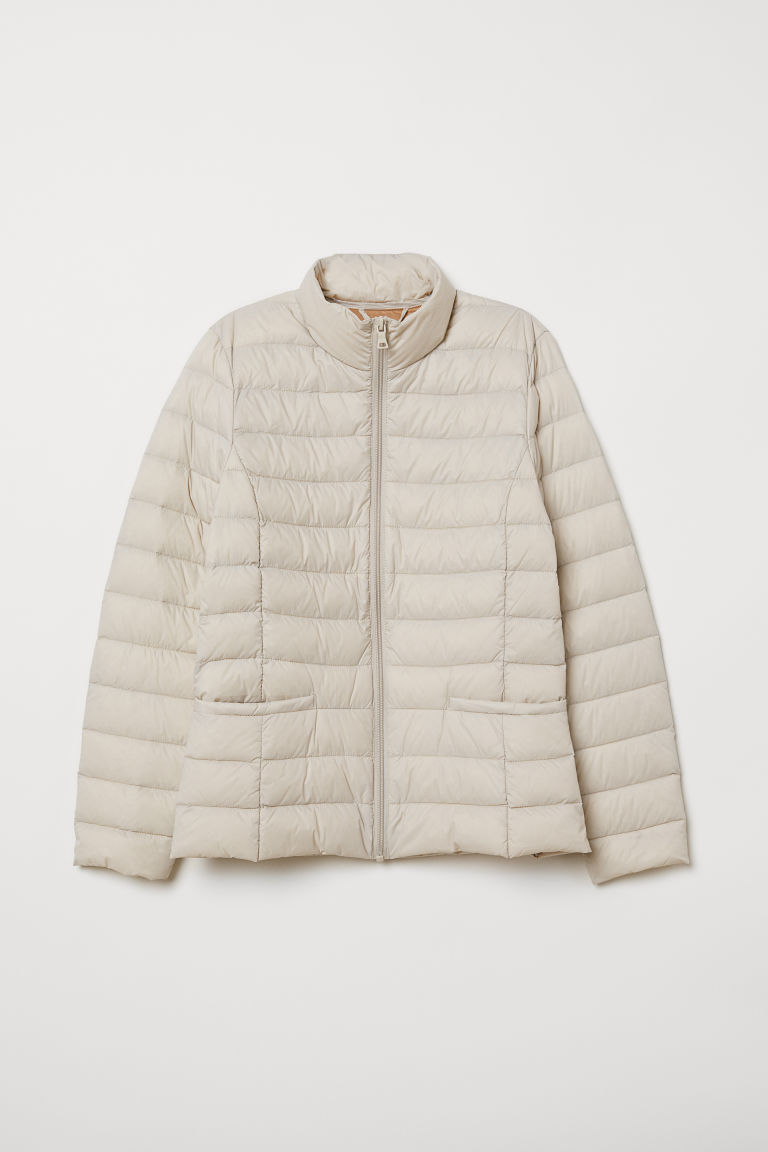 Lightweight down jacket - Light beige - Ladies | H&M CN