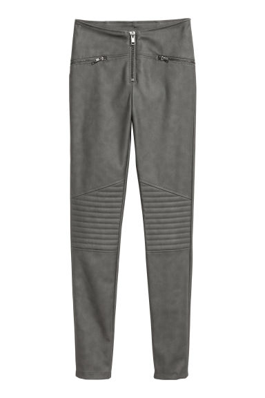 Biker leggings - Dark grey -  | H&M GB