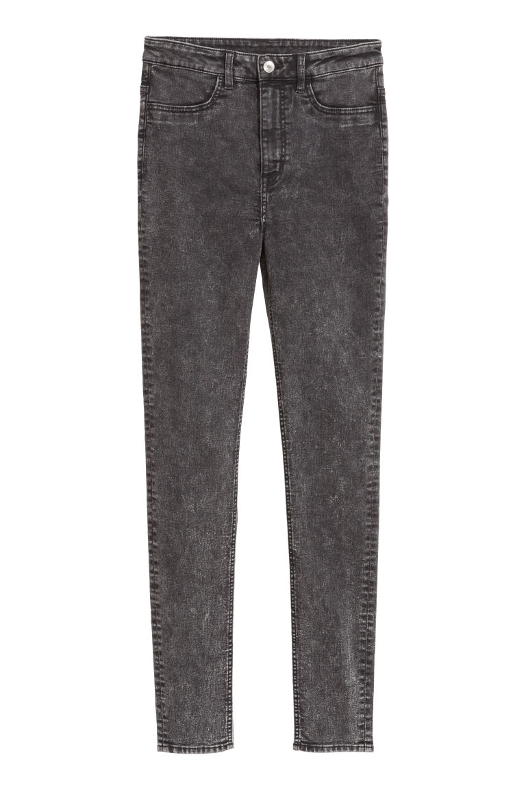 Super Skinny High Jeans - Dark grey denim - Ladies | H&M CN