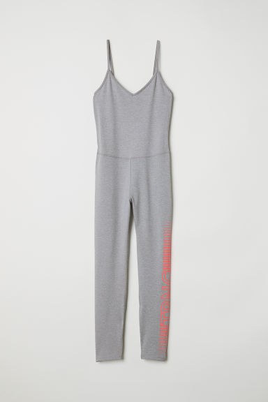 Yoga jumpsuit - Light grey -  | H&M CN