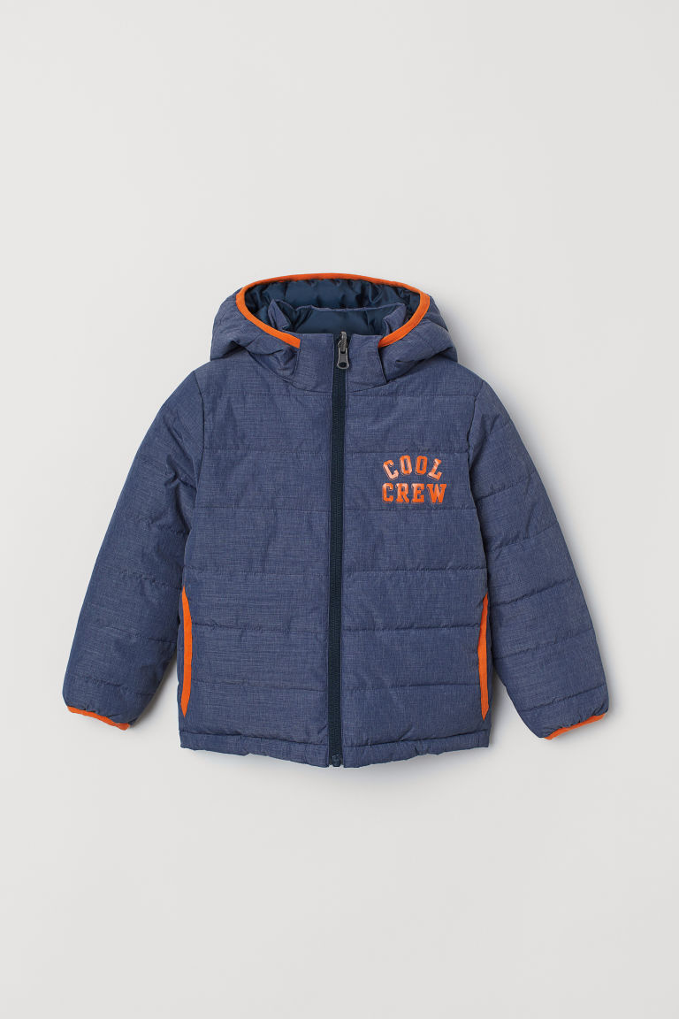 Padded Jacket - Dark blue/Cool Crew - Kids | H&M US