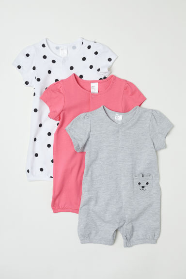 3-pack cotton pyjamas - Pink/Spotted -  | H&M CN