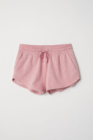 Sweatshirt shorts - Pink marl - Ladies | H&M CN