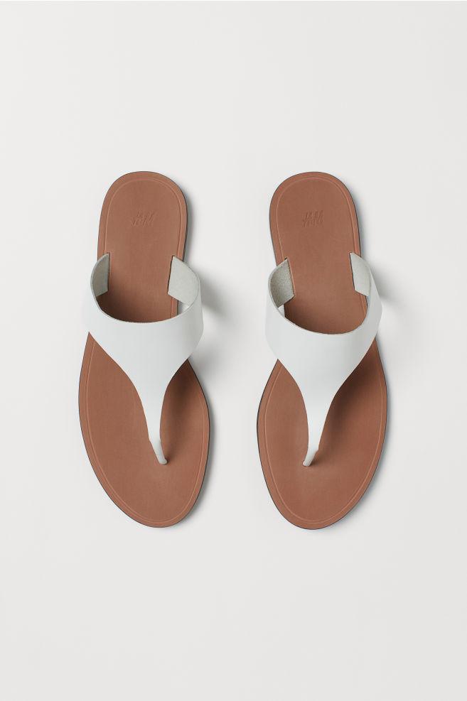 ef1cb4b291 Kožené sandály - Bílá - ŽENY