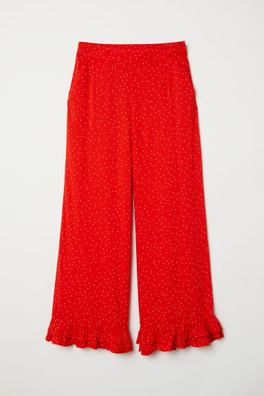 Ankle-length Pants - Red/dotted - Ladies | H&M CA