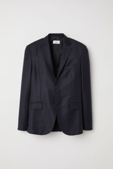 Wool jacket - Dark blue - Men | H&M CN