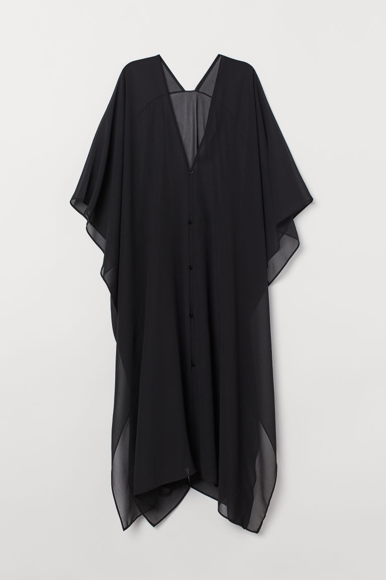 Kaftan with buttons - Black - Ladies | H&M