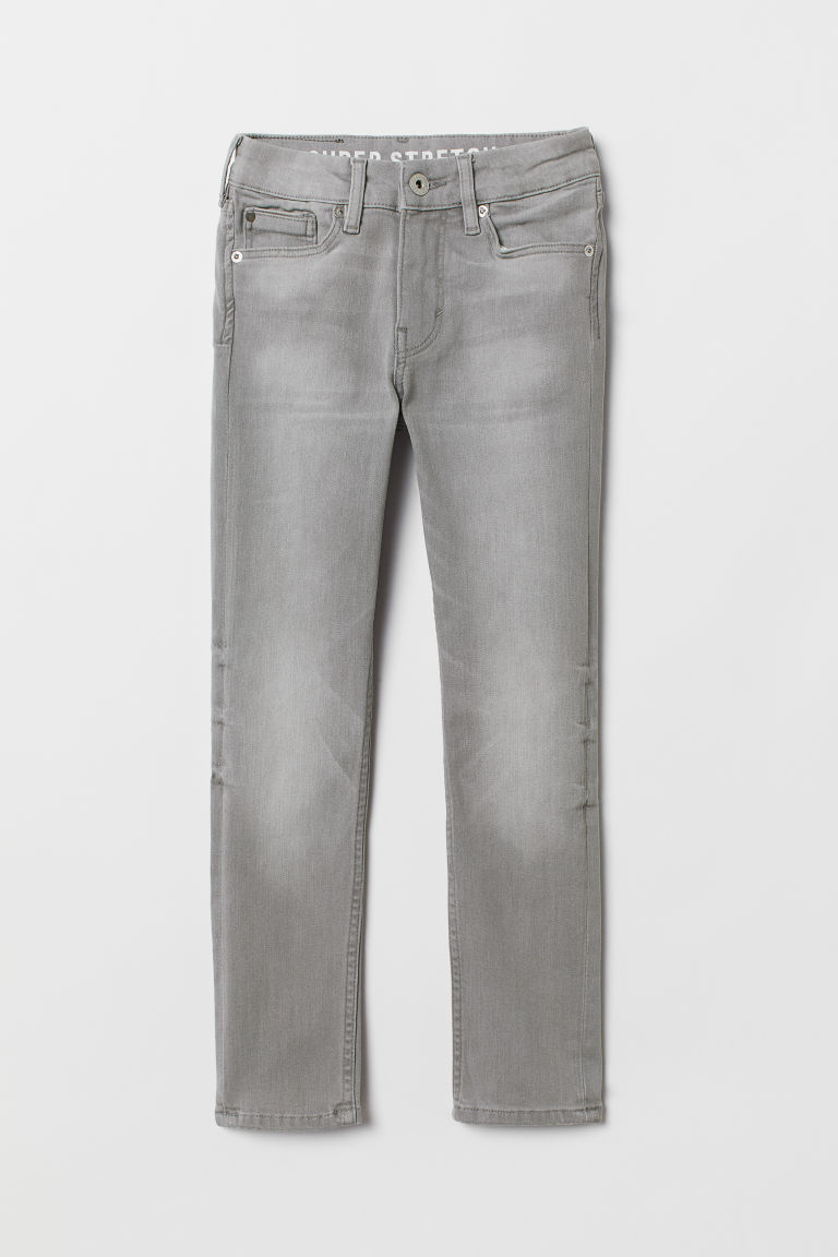Superstretch Skinny Fit Jeans - Lys grå denim - BARN | H&M NO