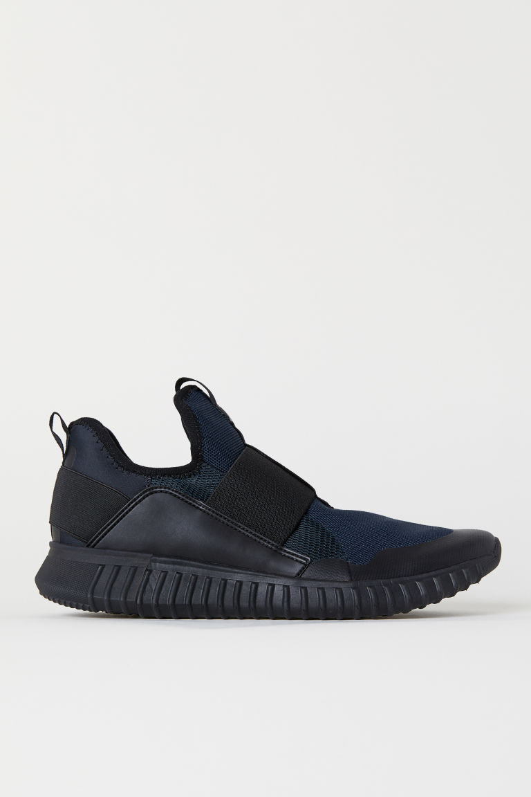 Mesh trainers - Dark blue/Black - Men | H&M
