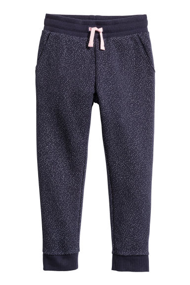 Joggers - Donkerblauw/glitters - KINDEREN | H&M BE