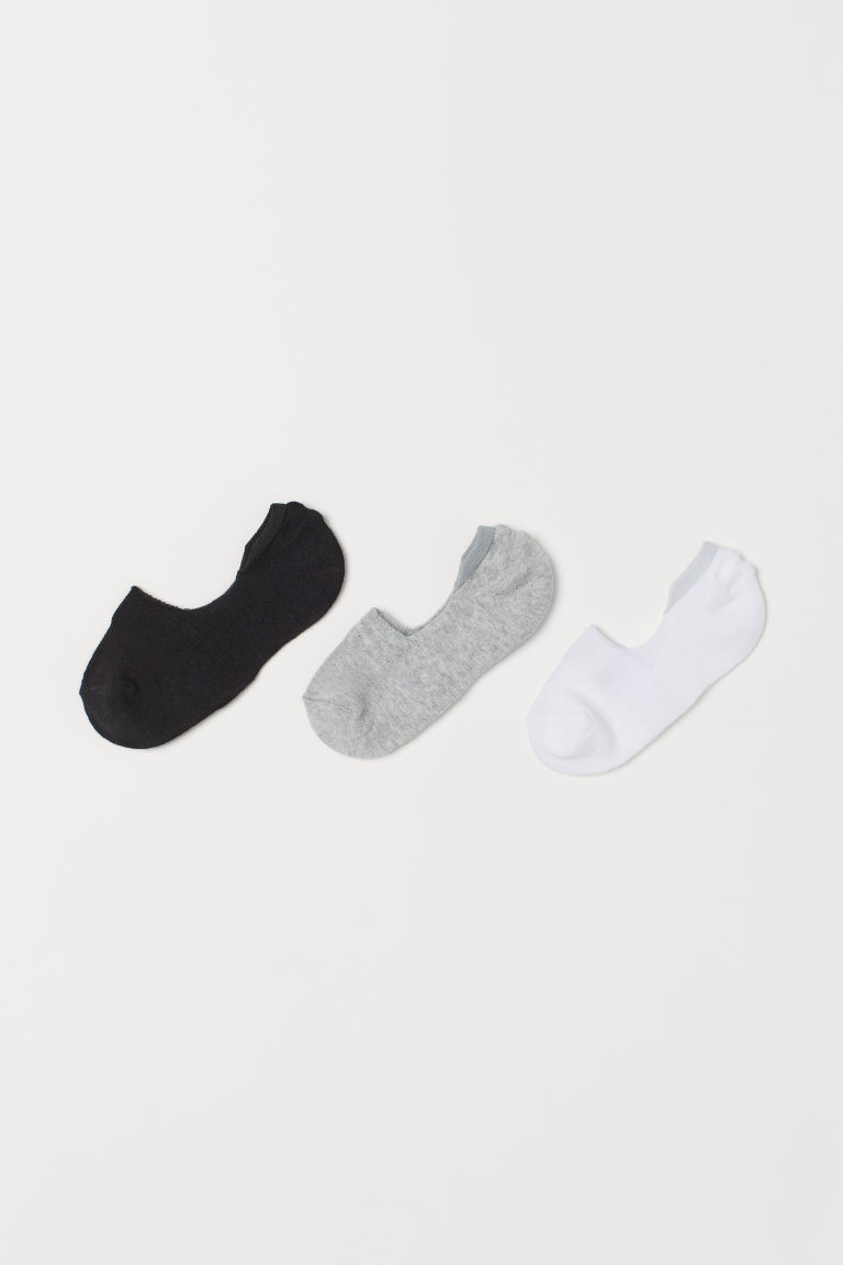 3-pack sportssokker - Hvit/Grå/Sort - BARN | H&M NO