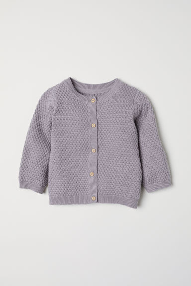 Textured-knit cardigan - Mole - Kids | H&M CN