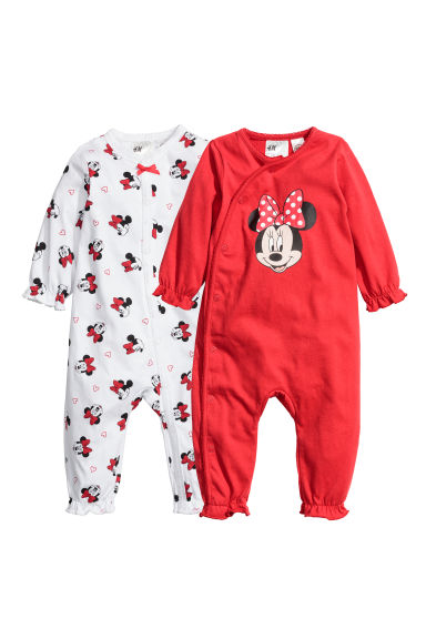 2-pack all-in-one pyjamas - Red/Minnie Mouse - Kids | H&M CN