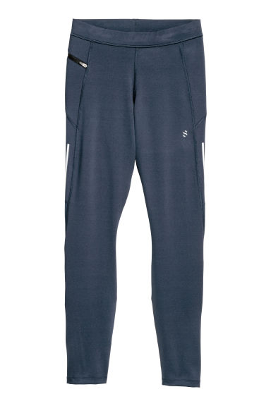 Running tights - Dark blue - Men | H&M CN