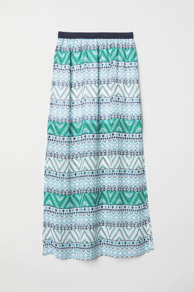 Long skirt - Green/White patterned - Ladies | H&M