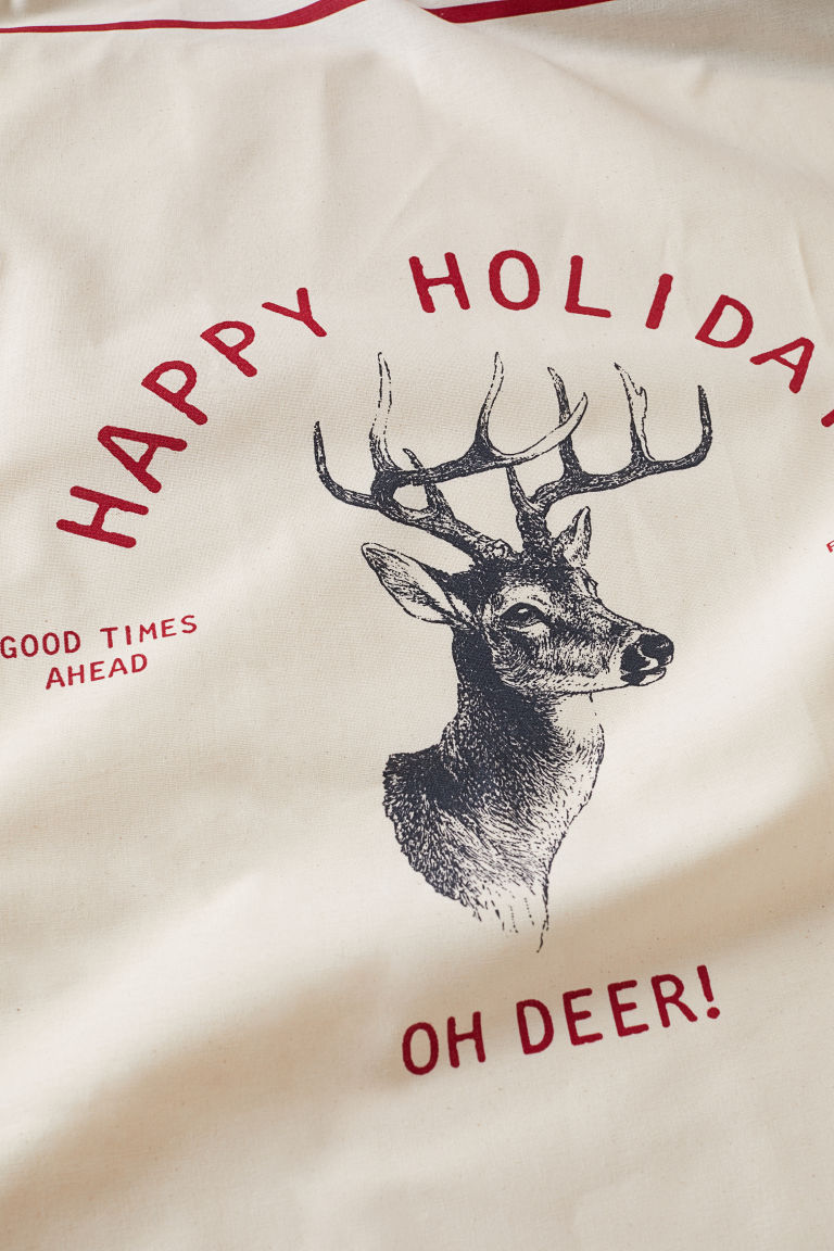 Tea towel - Natural white/Reindeer - Home All | H&M 2
