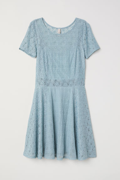 Short lace dress - Light turquoise - Ladies | H&M