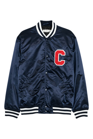 Nylon baseball jacket - Dark blue - Men | H&M CN