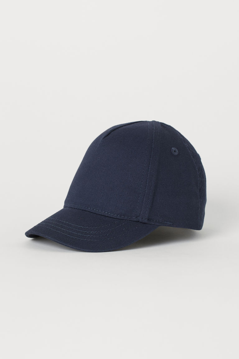 Cotton cap - Dark blue - Kids | H&M CN