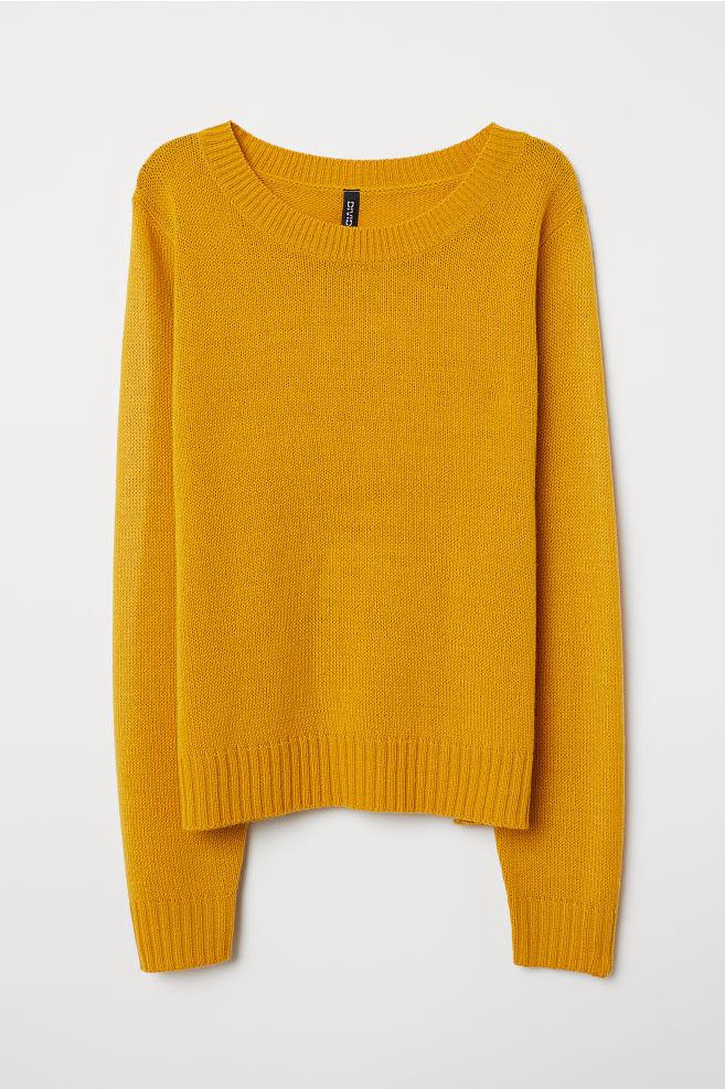 178f7f8233f1 Knitted jumper - Mustard yellow - Ladies