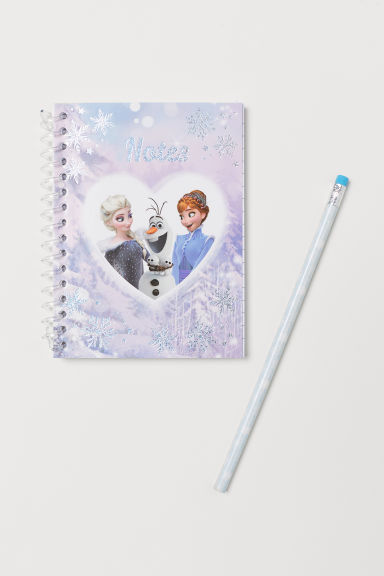 Notebook and pencil - Light purple/Frozen - Kids | H&M