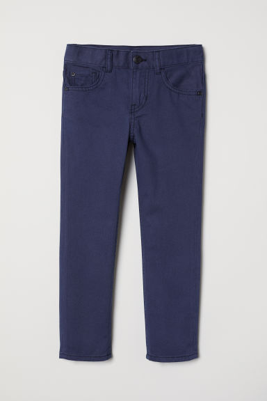 Twill trousers - Dark blue - Kids | H&M GB