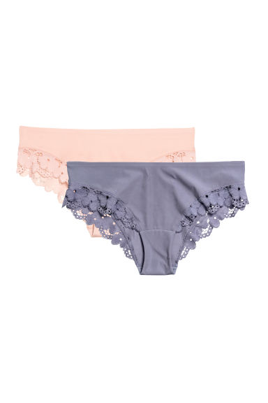 2-pack hipster briefs - Heather - Ladies | H&M