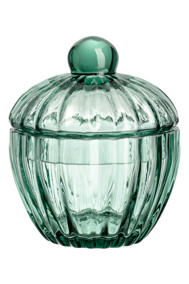 Glass pot - Turquoise - Home All | H&M CN