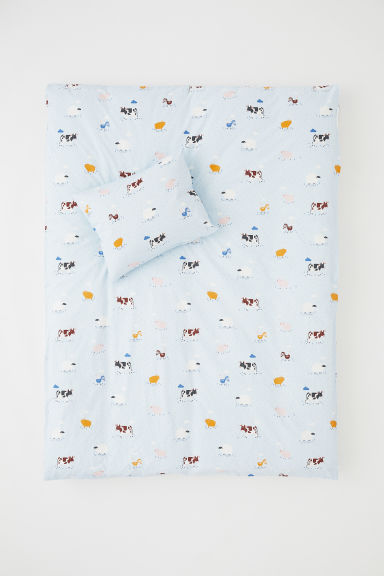 Funda nórdica estampada - Azul claro/Animales - HOME | H&M ES