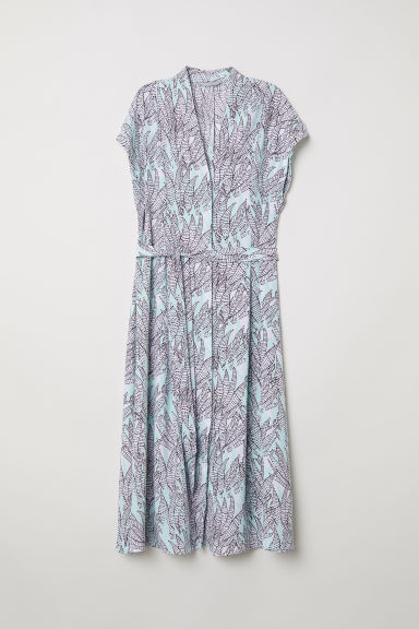 Patterned dress - Light turquoise/Patterned -  | H&M CN