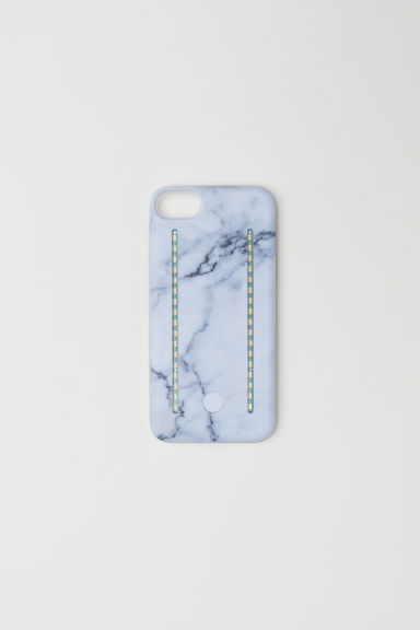 iPhone 6/7 selfie light case - White/Marble patterned - Ladies | H&M GB