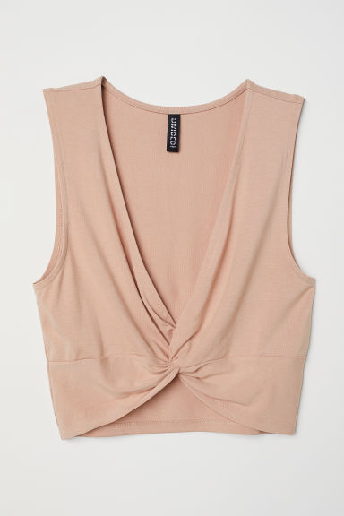 Cropped top - Beige - Ladies | H&M