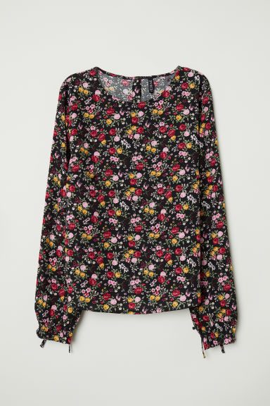Patterned blouse - Black/Patterned - Ladies | H&M