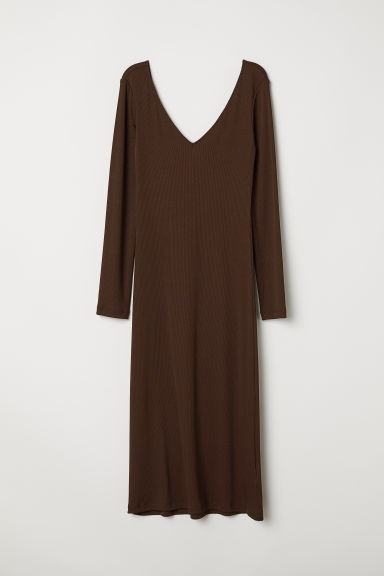 Bodycon dress - Dark brown - Ladies | H&M
