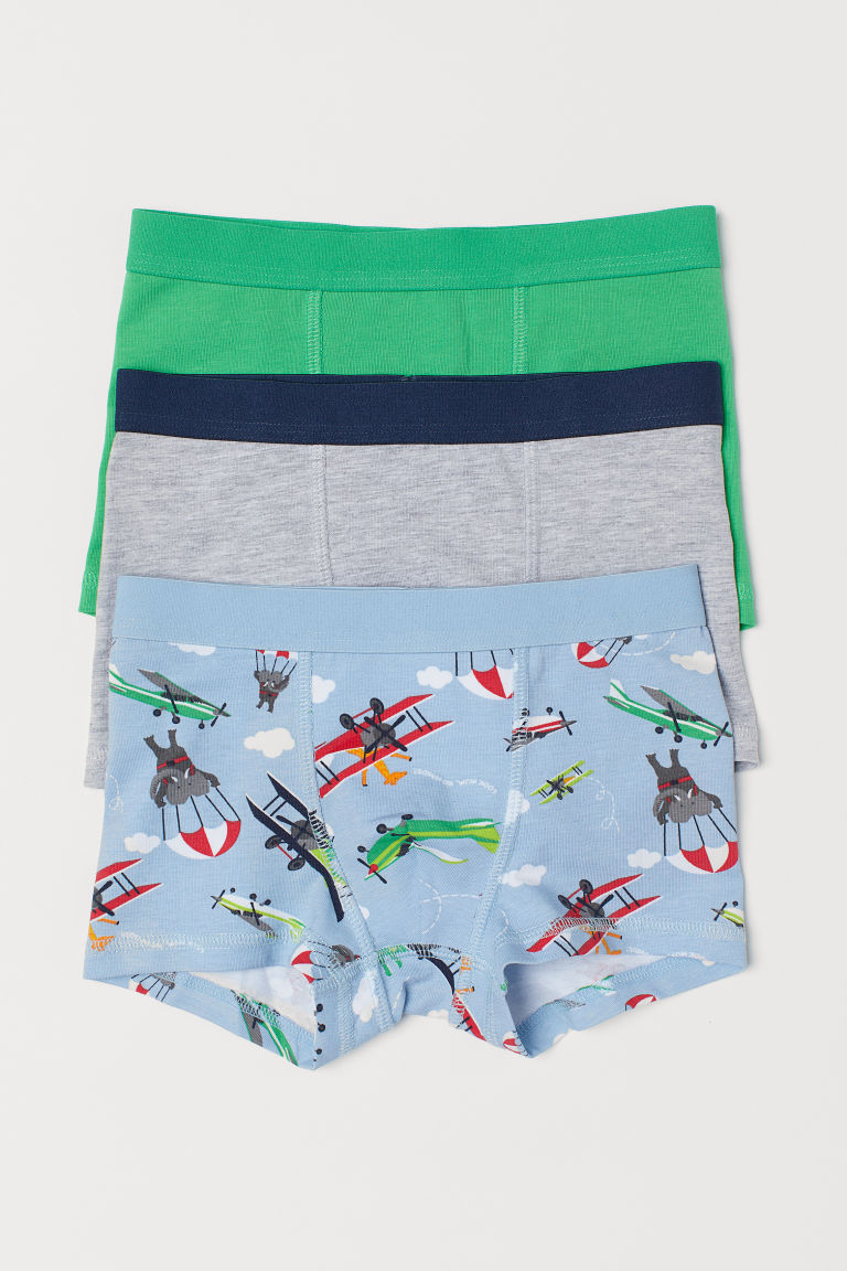 3-pack boxer shorts - Light blue/Aeroplanes - Kids | H&M CN