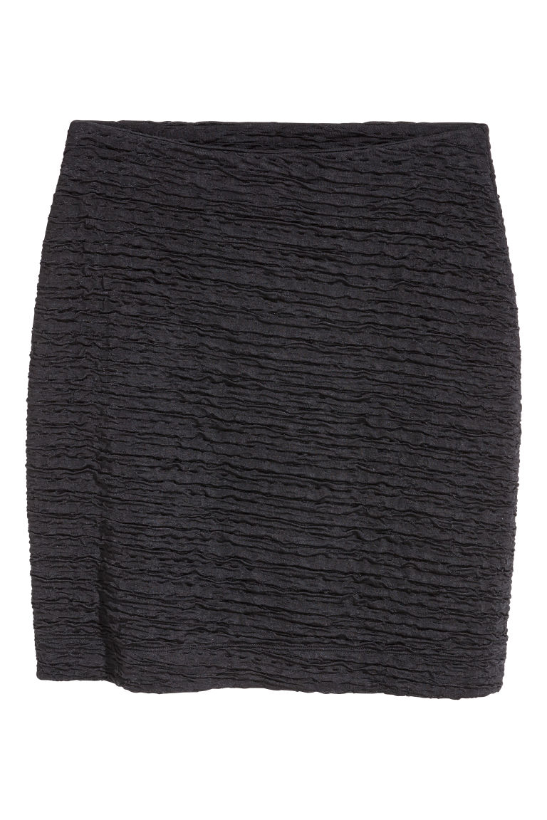 Crinkled jersey skirt - Black - Ladies | H&M