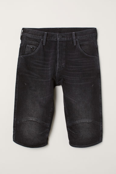 Vaquero corto Straight - Negro washed out - HOMBRE | H&M ES