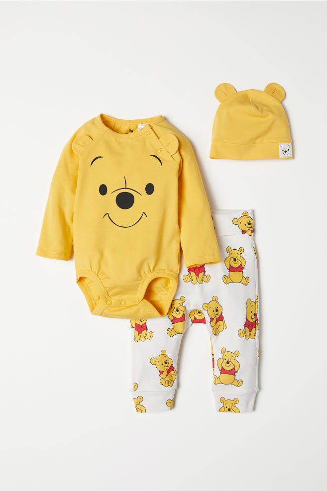 4118199931ea 3-piece Jersey Set - Yellow Winnie the Pooh - Kids