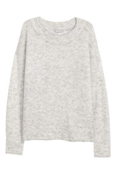 Wool-blend jumper - Light grey - Ladies | H&M