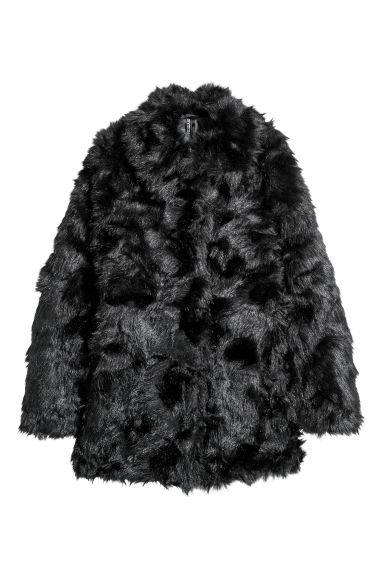 Faux fur jacket - Black - Ladies | H&M