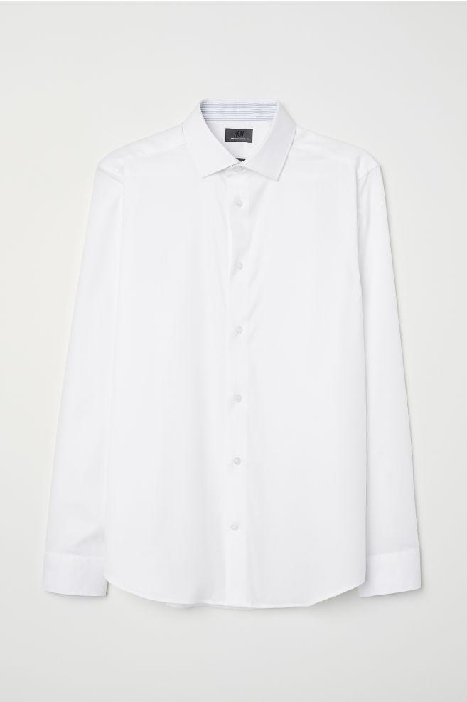 Wit Heren Overhemd.Overhemd Van Premium Cotton Wit Heren H M Nl