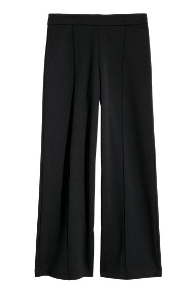 Wide trousers - Black -  | H&M
