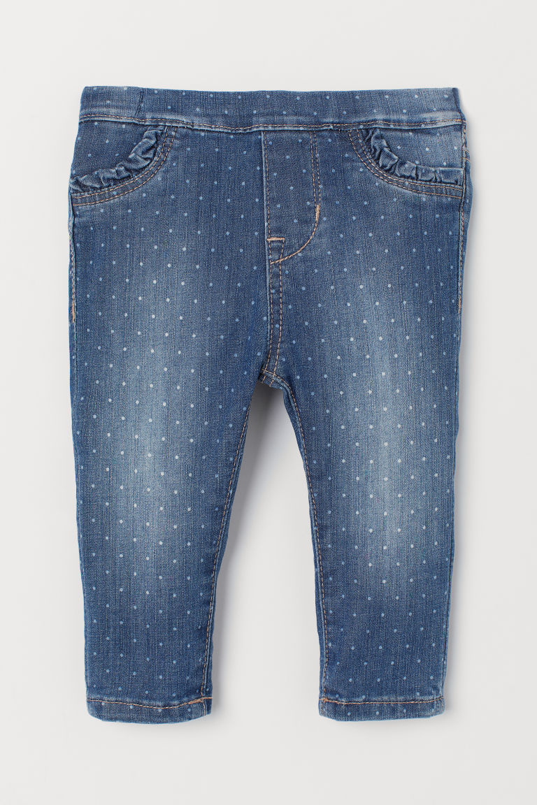 Leggings in denim fantasia - Blu - BAMBINO | H&M IT