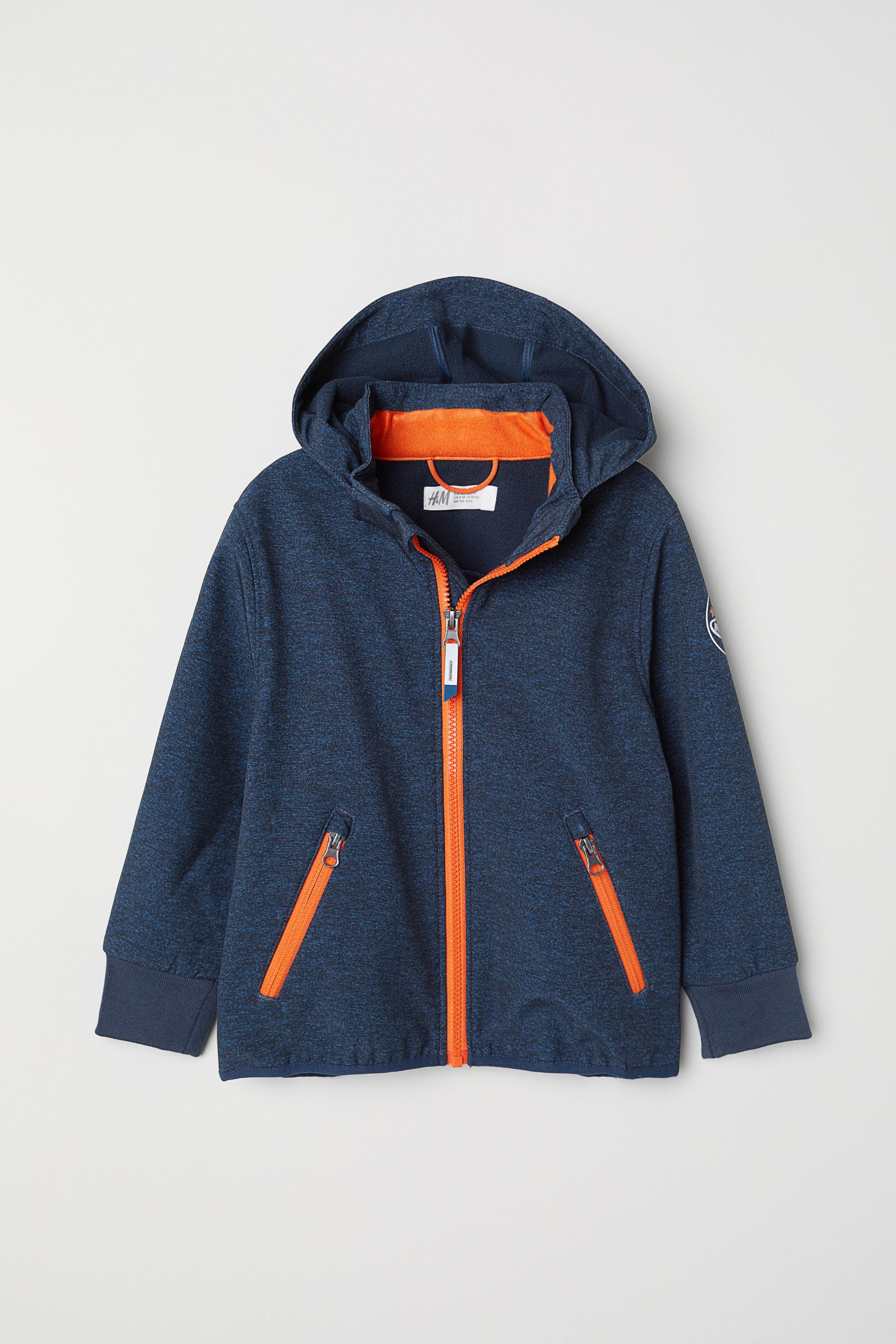 5a807fb398da4 Water-repellent Shell Jacket - Dark blue melange - Kids | H&M US