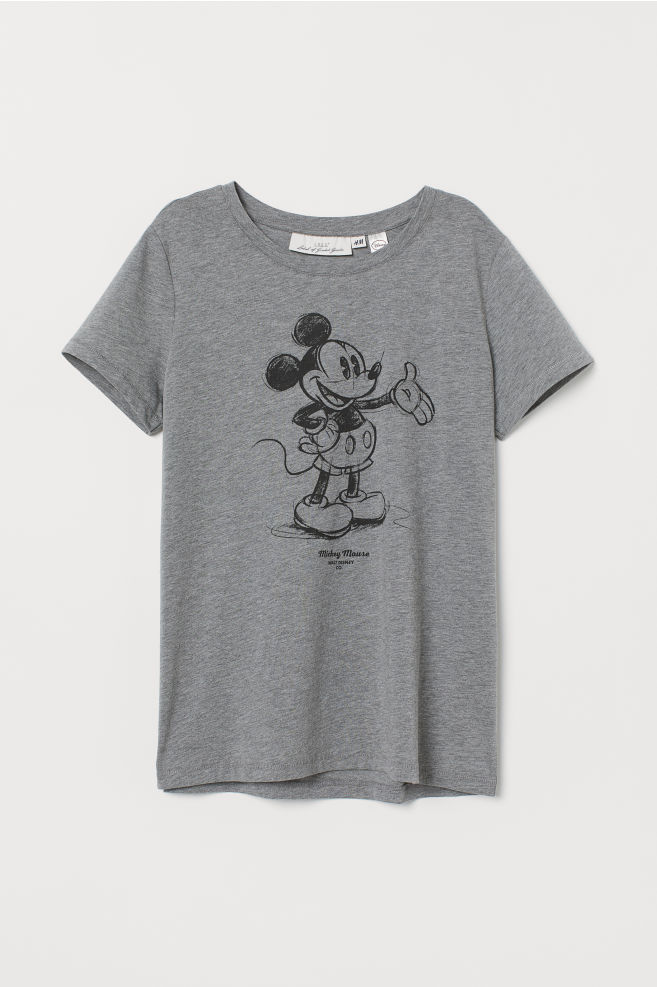 ... Camiseta con motivo - Gris Mickey Mouse - MUJER  a720c613c724
